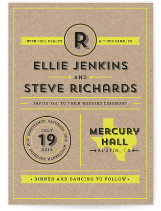 Poster Type Wedding Invitations