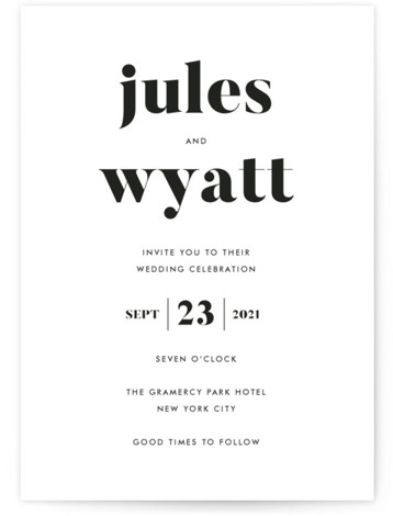 Nolita Wedding Invitations