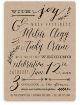 With Joy Wedding Invitations