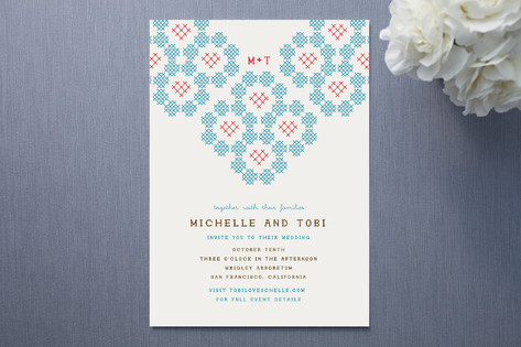 Cross Your Heart Wedding Invitations