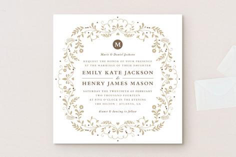 Jasmine Bloom Wedding Invitations