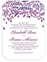 China Plate Wedding Invitations