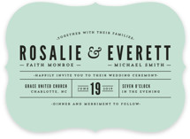 Classic Type Wedding Invitations