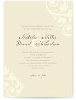 Elegant Flourish Wedding Invitations