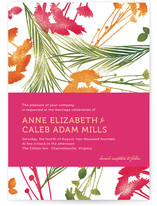 flower press Wedding Invitations