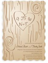Fall Carving Wedding Invitations