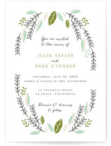 Bohemian Wreath Wedding Invitations