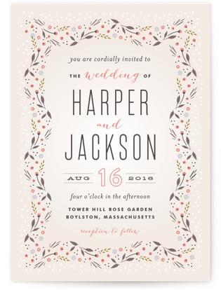Classic Garden Wedding Invitations