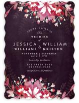 Enchanting Plum Wedding Invitations