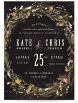 Floral Crown Wedding Invitations