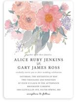 fresh watercolor floral Wedding Invitations