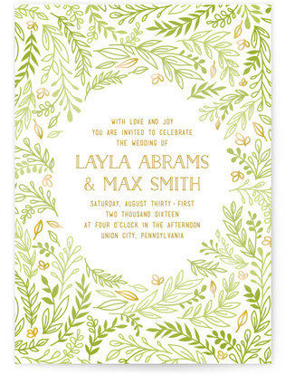 Gathering Of Leaves Wedding Invitations