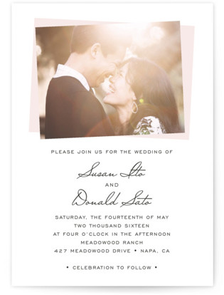 Romantic Frame Wedding Invitations