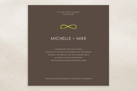 Infinite Wedding Invitations