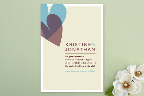 2 of Hearts Wedding Invitations