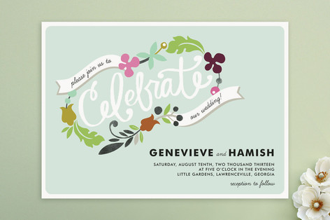 Celebrate Florals Wedding Invitations