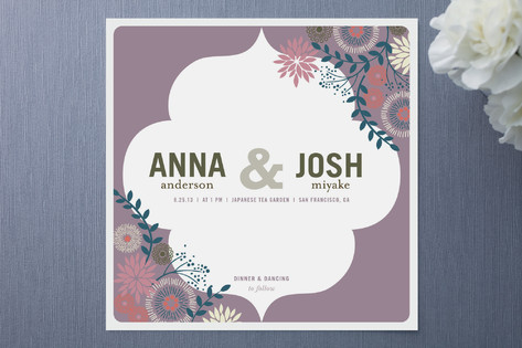 Center Stage Wedding Invitations
