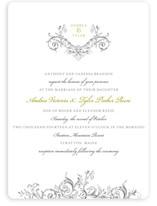 Victorian Vine Monogram Wedding Invitations