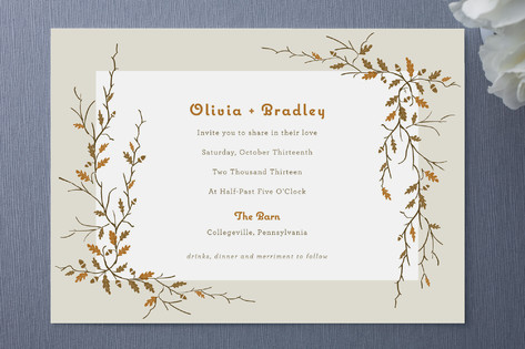Sweet Autumn Wedding Invitations