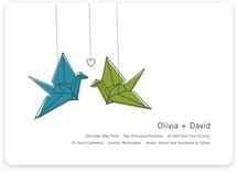 Two Cranes Wedding Invitations