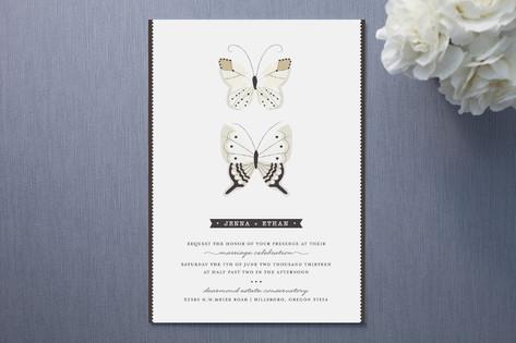 Winged Specimen Wedding Invitations