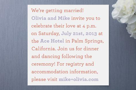 Word Famous Wedding Invitations