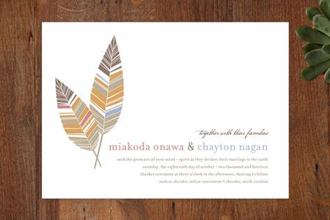 Spirit Feathers Wedding Invitations