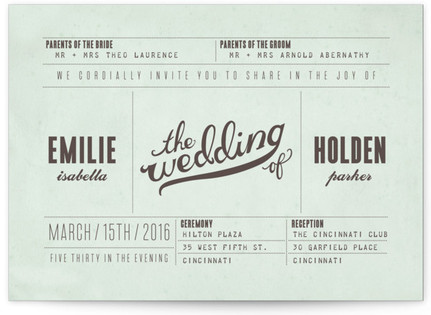 Mr. Laurence Wedding Invitations