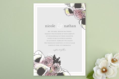 Belles Fleurs Wedding Invitations