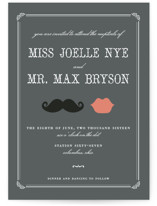 Stache + Kiss Wedding Invitations