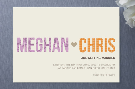 His + Hers Wedding Invitations