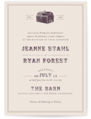 The Barn Wedding Invitations