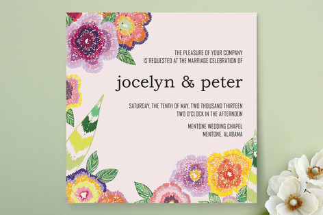 Wildflower Mead Wedding Invitations
