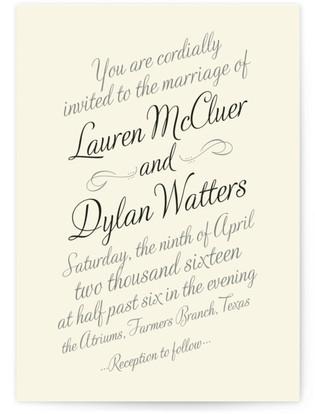 Just My Type Wedding Invitations