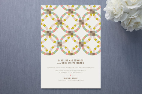 Quilted Wedding Invitations