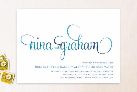 Hip Swish Wedding Invitations