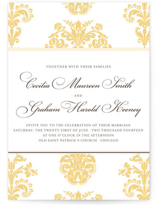 Float + Bridal Brocade Wedding Invitations