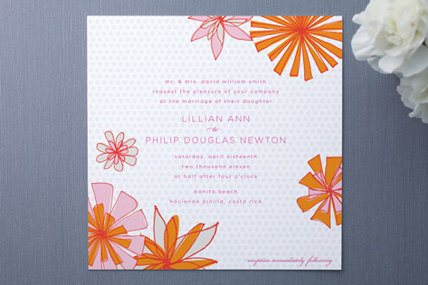 Pocket Full of Posies Wedding Invitations