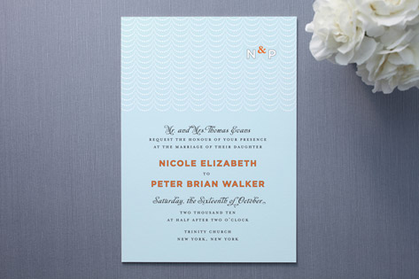 Modern Swag Wedding Invitations