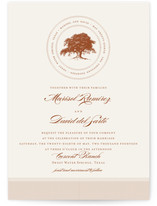 Modern Crest Wedding Invitations