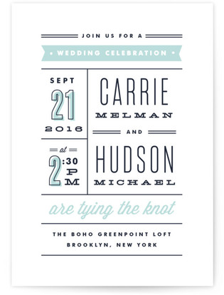 Posted Wedding Invitations