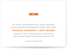 Modern Ribbon Wedding Invitations