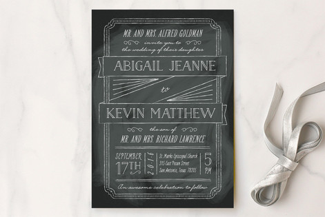 Drawn to Each Other Wedding Invitations