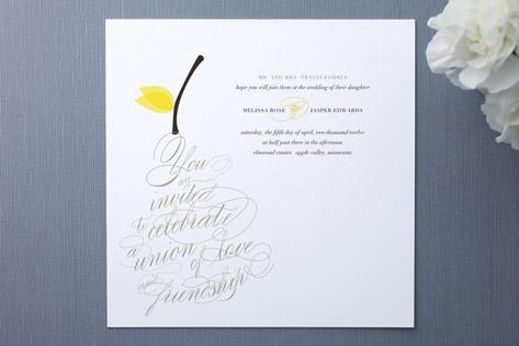 pear nouveau Wedding Invitations