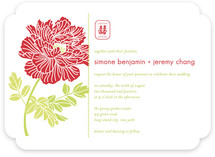 Red Peony Wedding Invitations