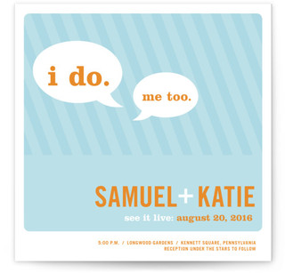 Smart Conversation Wedding Invitations