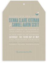 SWEET LINEN Wedding Invitations