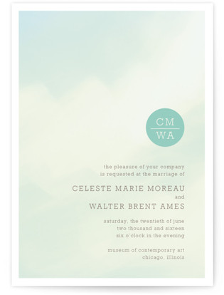 Ethereal Sky Wedding Invitations