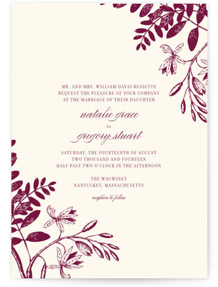 Tuileries Wedding Invitations