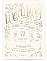 Handlettered Heart Wedding Invitations